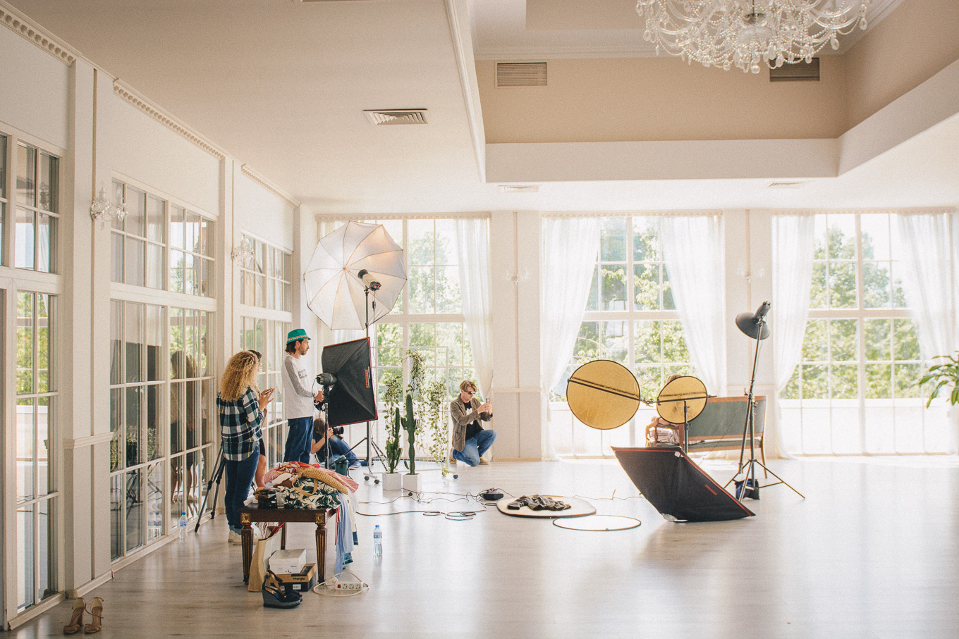 The shooting process for bulgaria mall summer campaign
