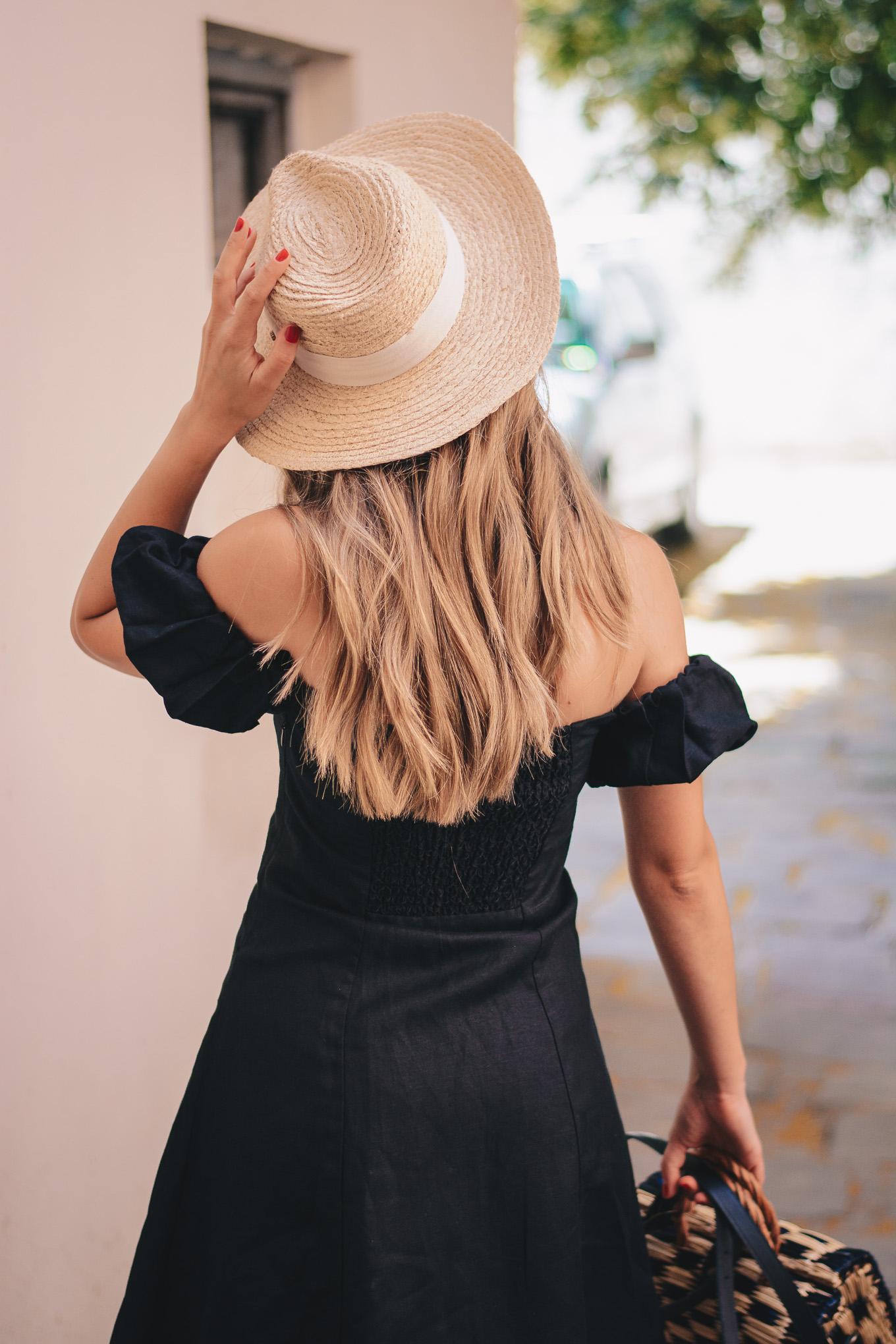Beautiful hair linen dress