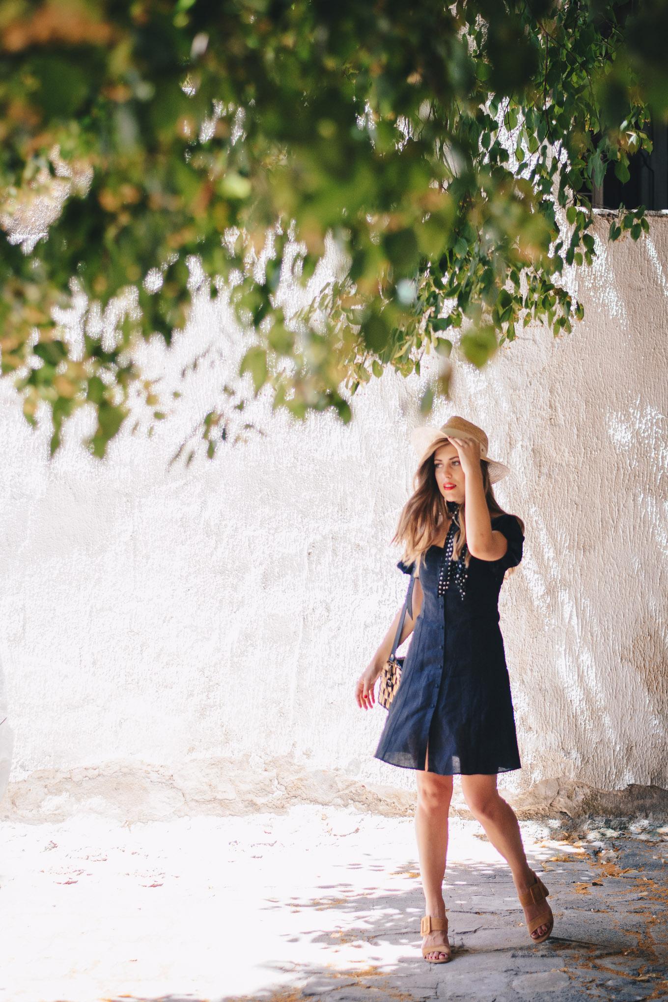 Zara blogger linen dress