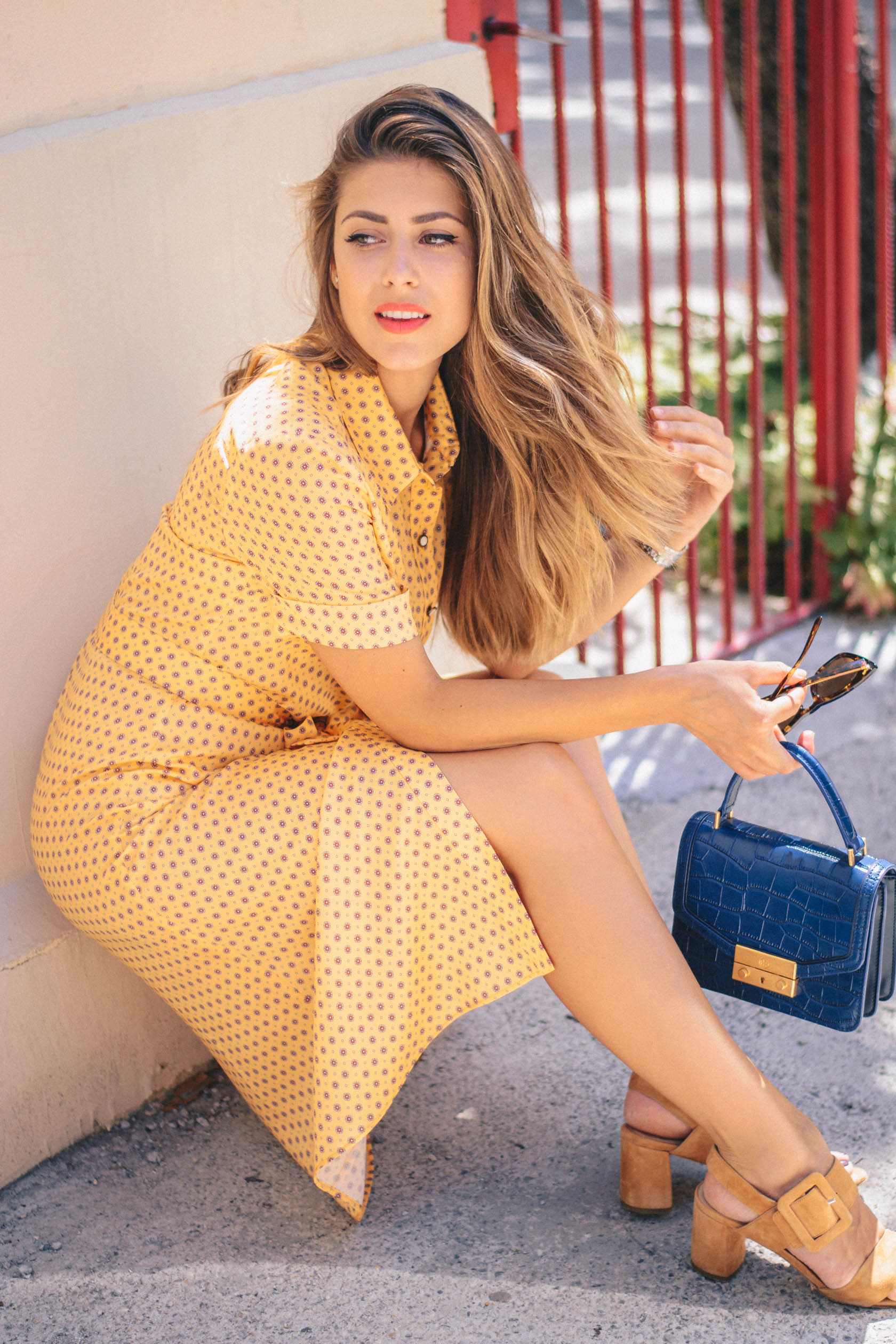 Denina-Martin tencel yellow dress
