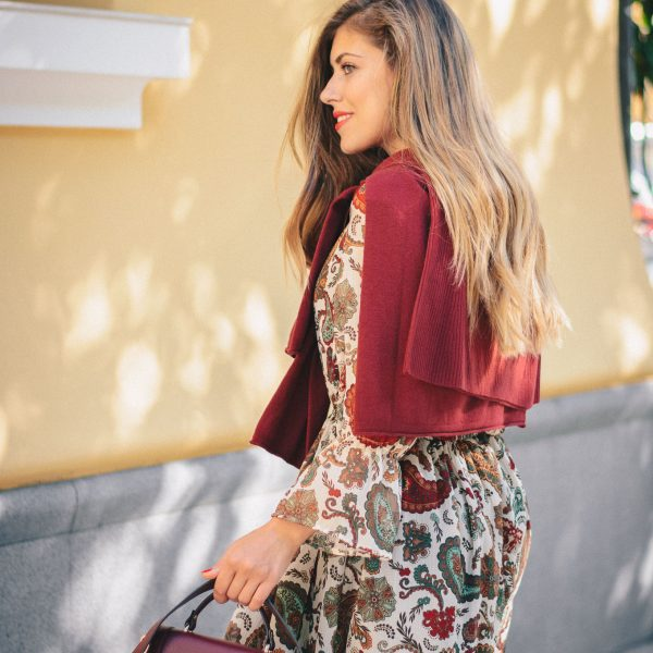 PERSIAN PRINT DRESS (РОКЛЯ С ПЕРСИЙСКИ ПРИНТ) - benetton sweater for autumn