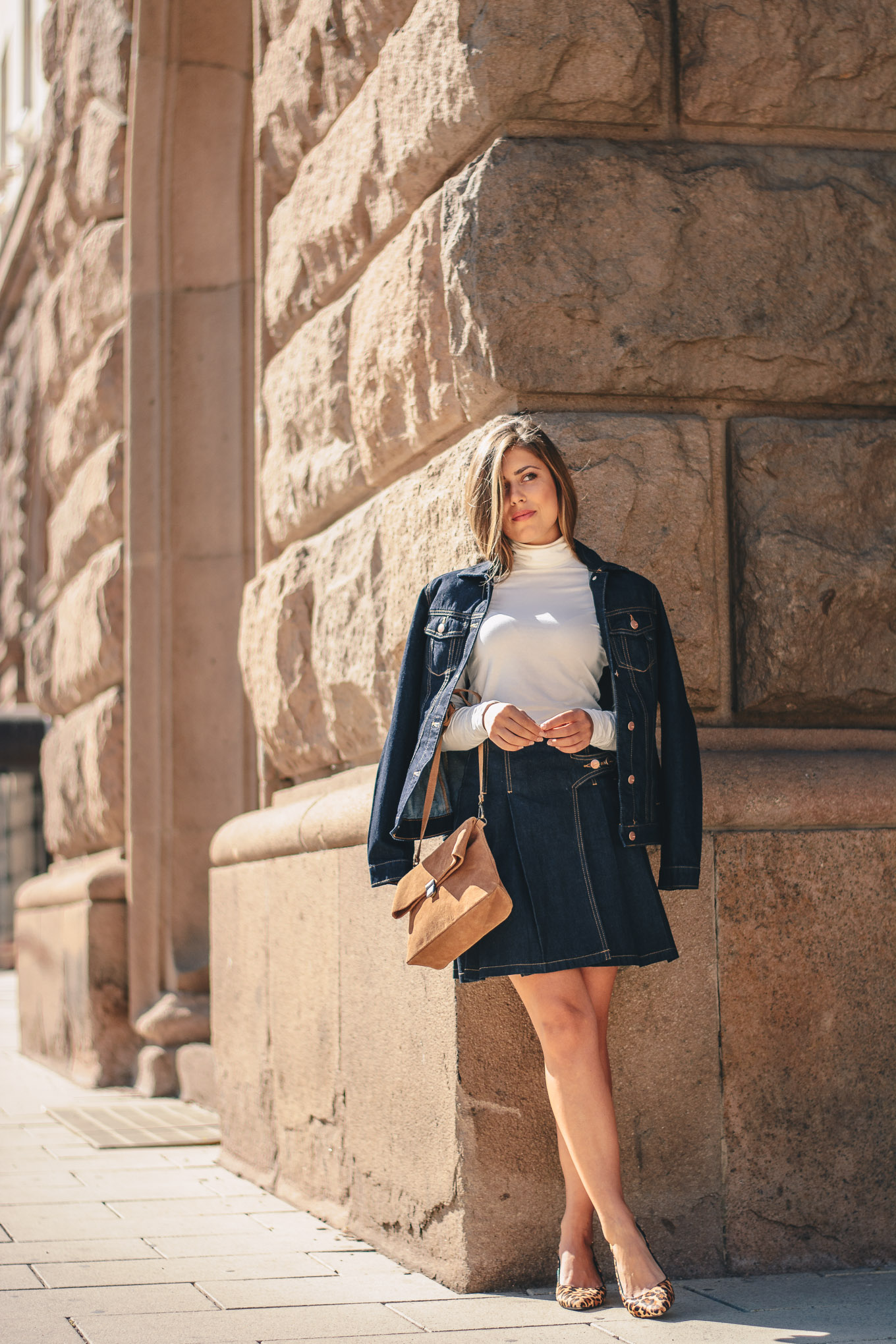 Denim set for fall