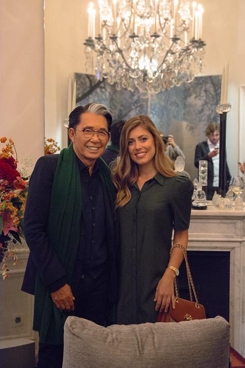 Denina Martin with Kenzo Takada