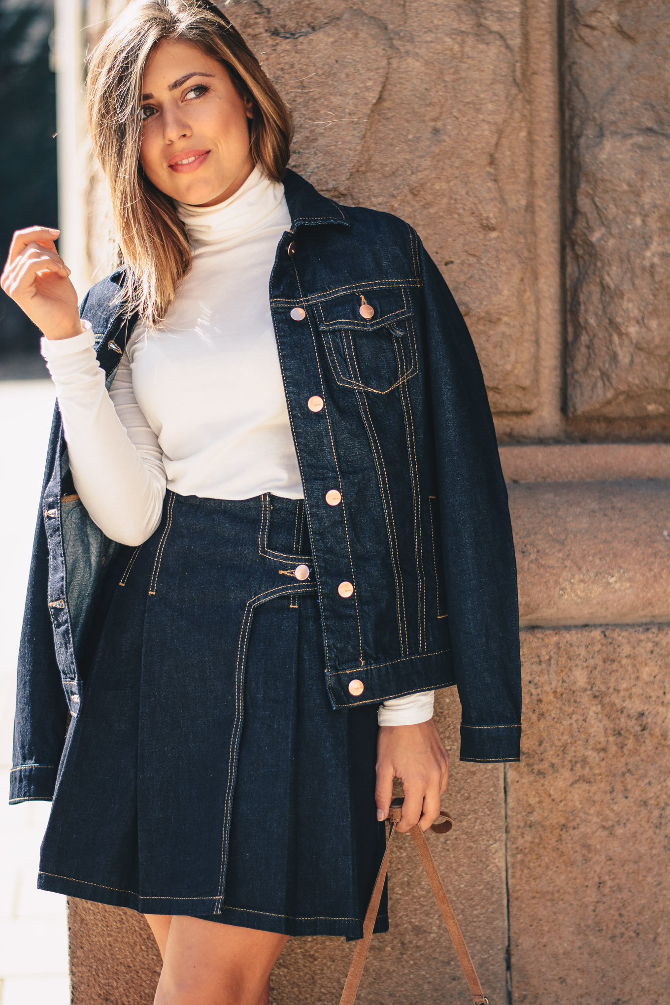 Western style influence denim set