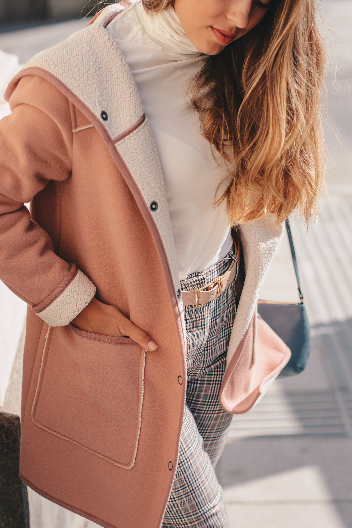light pink coat for fall
