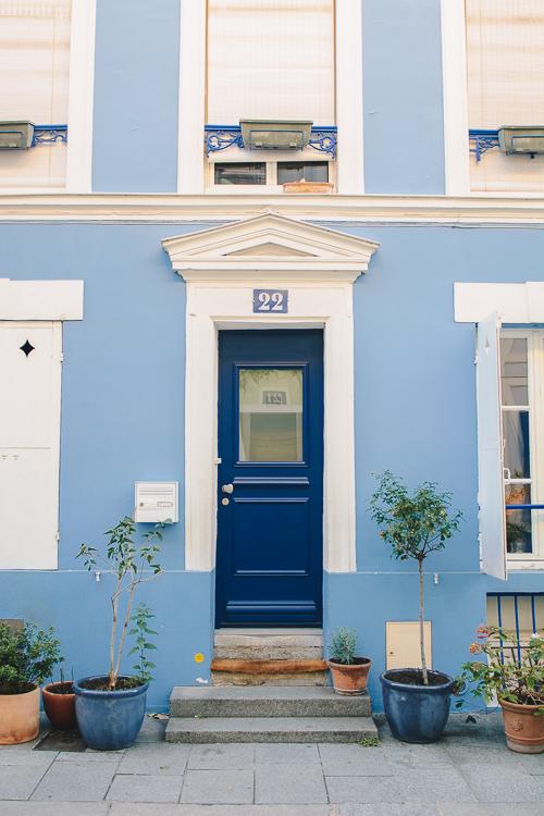 rue Cremieux blue Paris