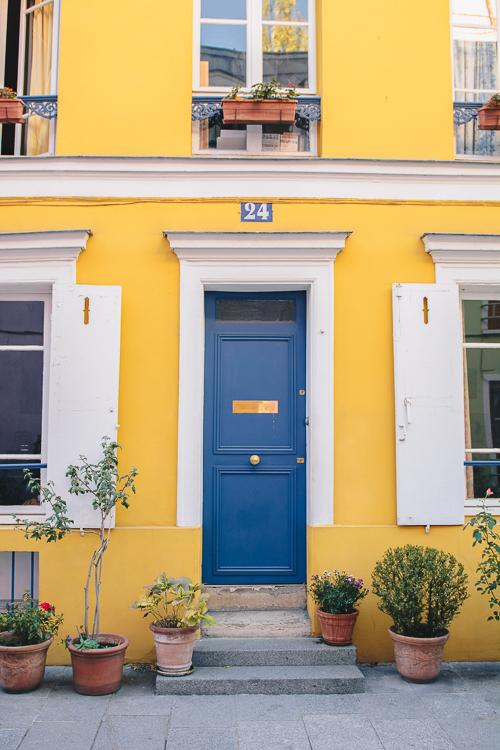 rue Cremieux yellow Paris