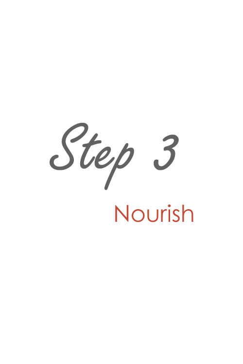 step 3 nourish