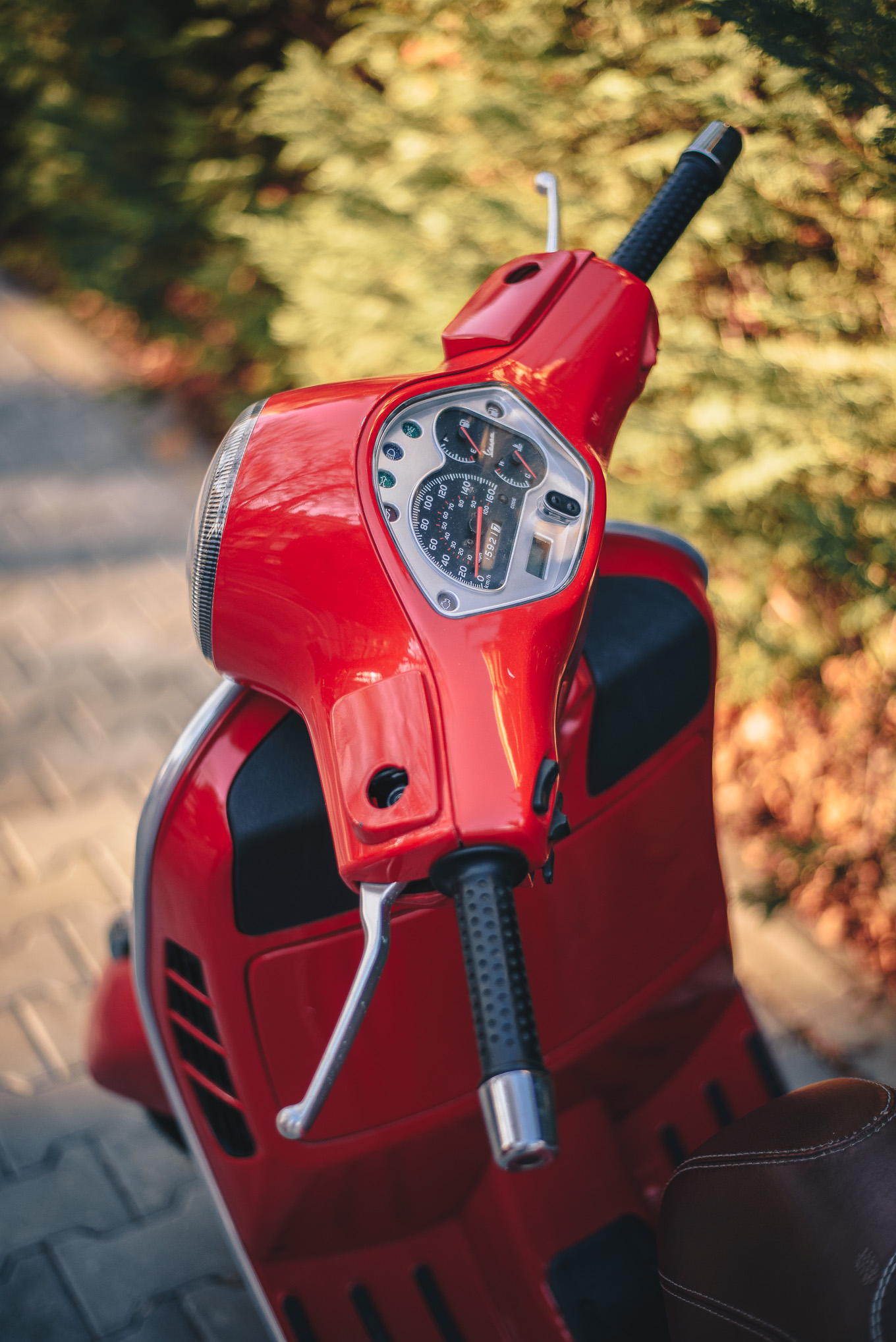 Holiday red Vespa