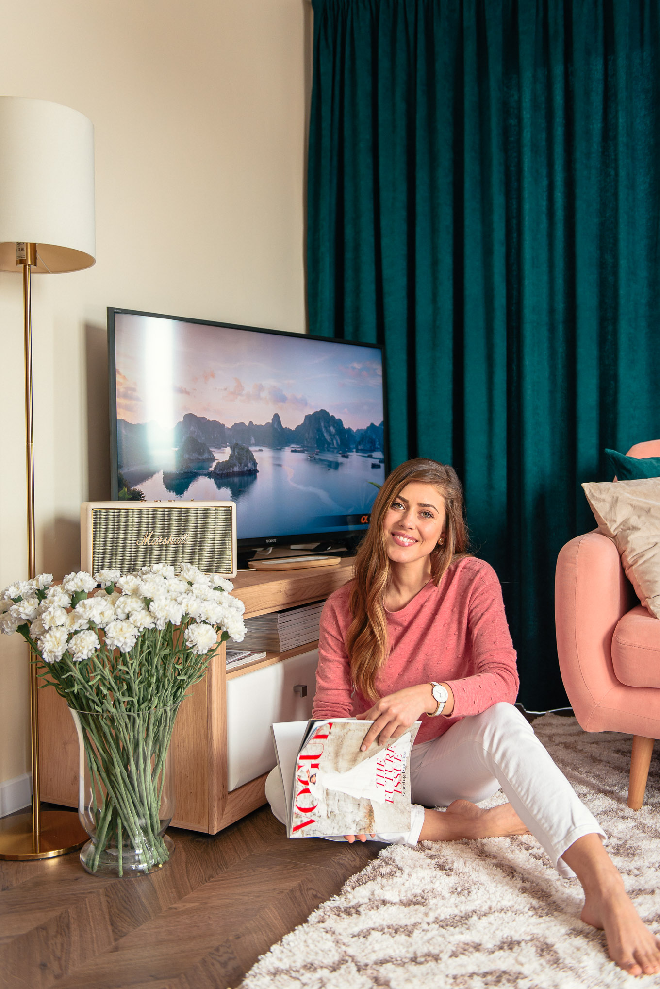 Living room Bulgarian blogger Denina Martin