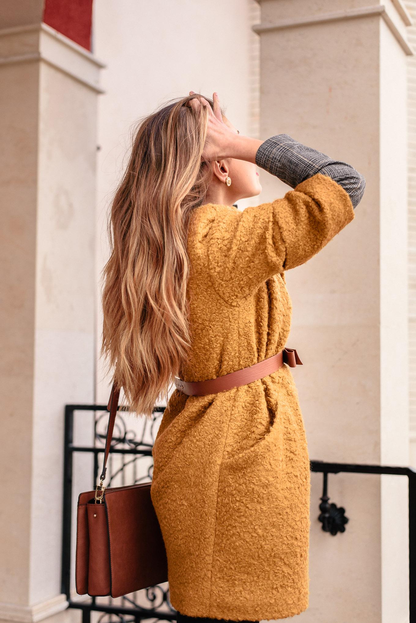 Mustard coat blogger