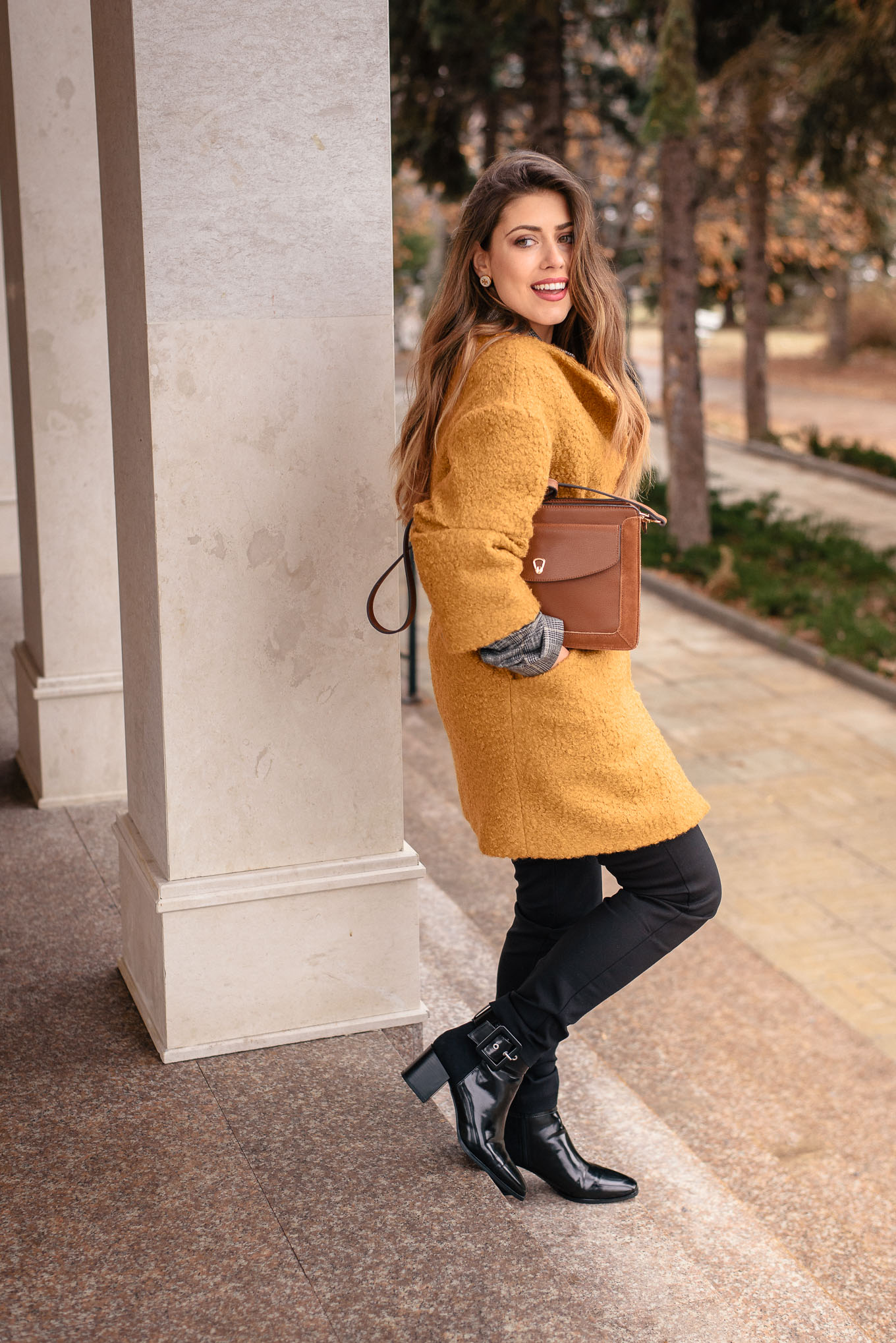 Mustard coat for this winter 2019