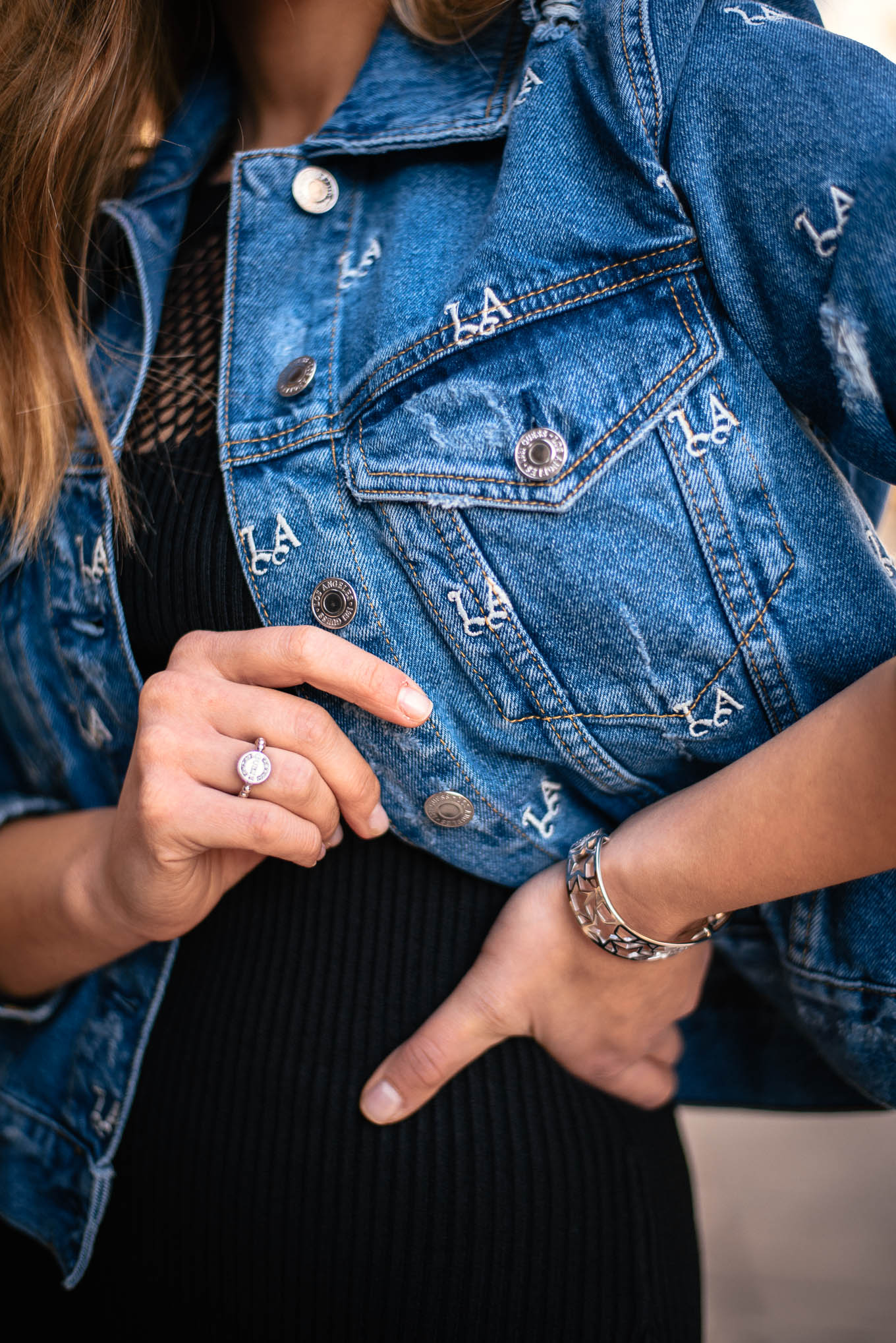 LA denim jacket