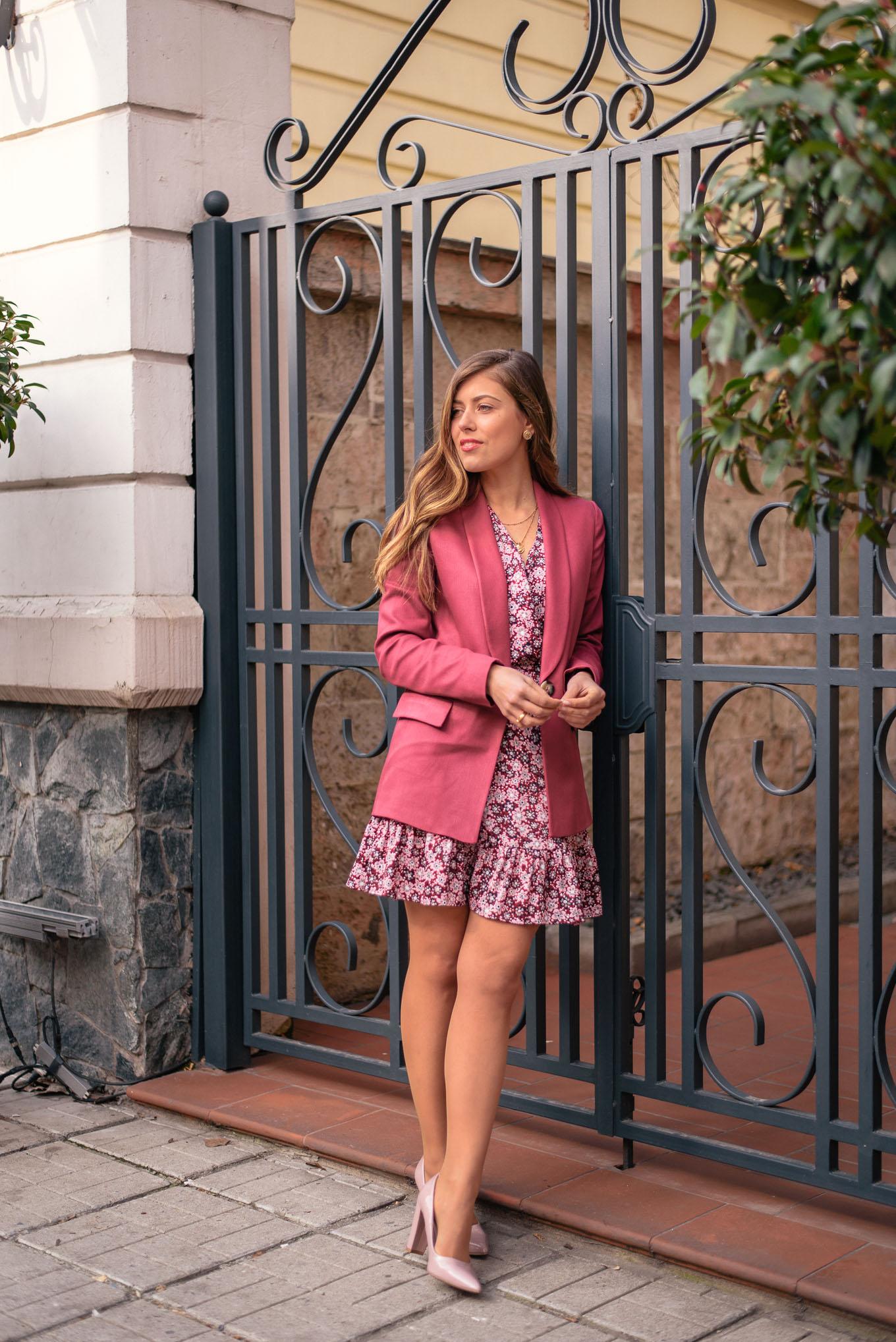 Matching dress blazer style