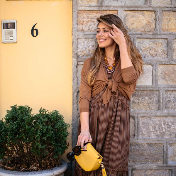 Must have this brown dress for this Spring - Дълга кафява рокля