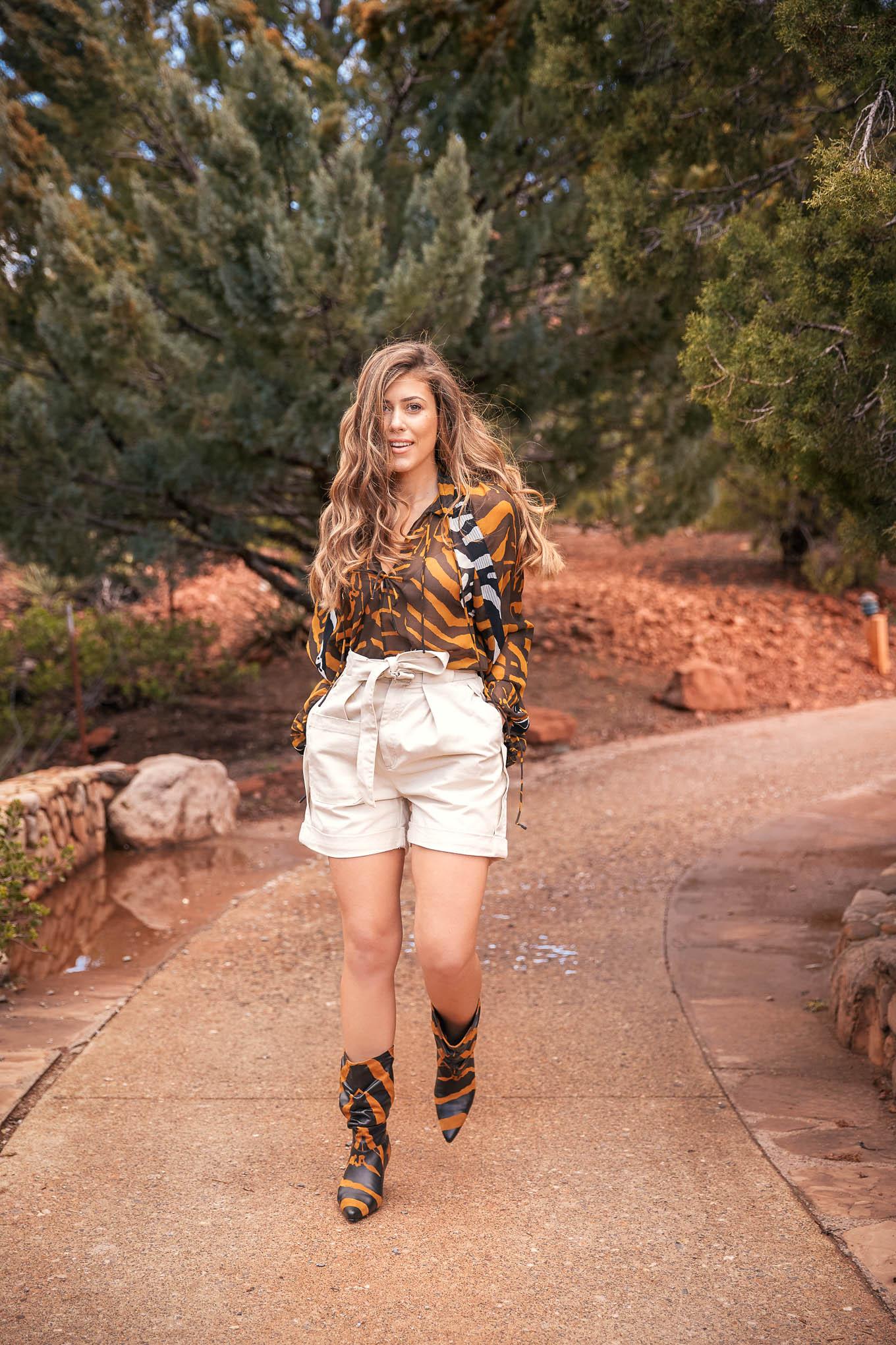 Denina Martin wearing H&M studio collection