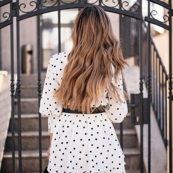 this polka dot dress is dreamy