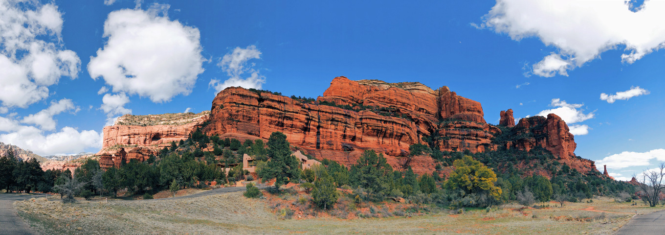 Panorama of red rocks sedona