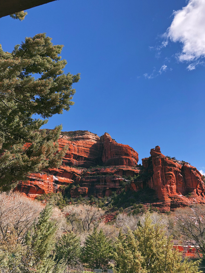 Beautiful red rocks in sedona arizona