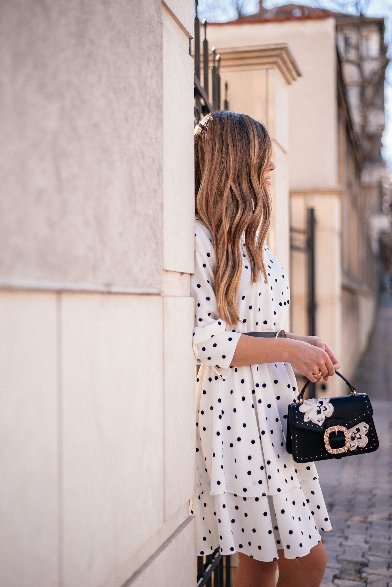 styling polka dot dress