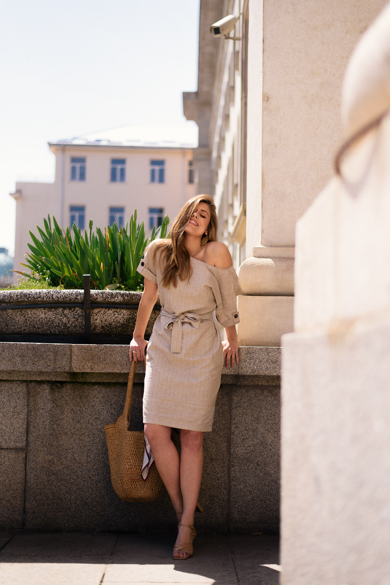 In love with this Esprit linen dress