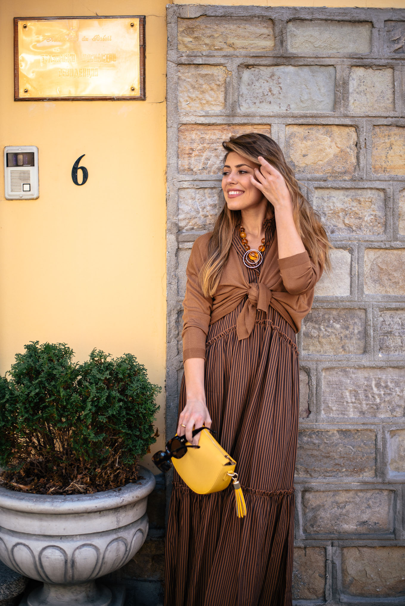 this maxi brown dress is a must