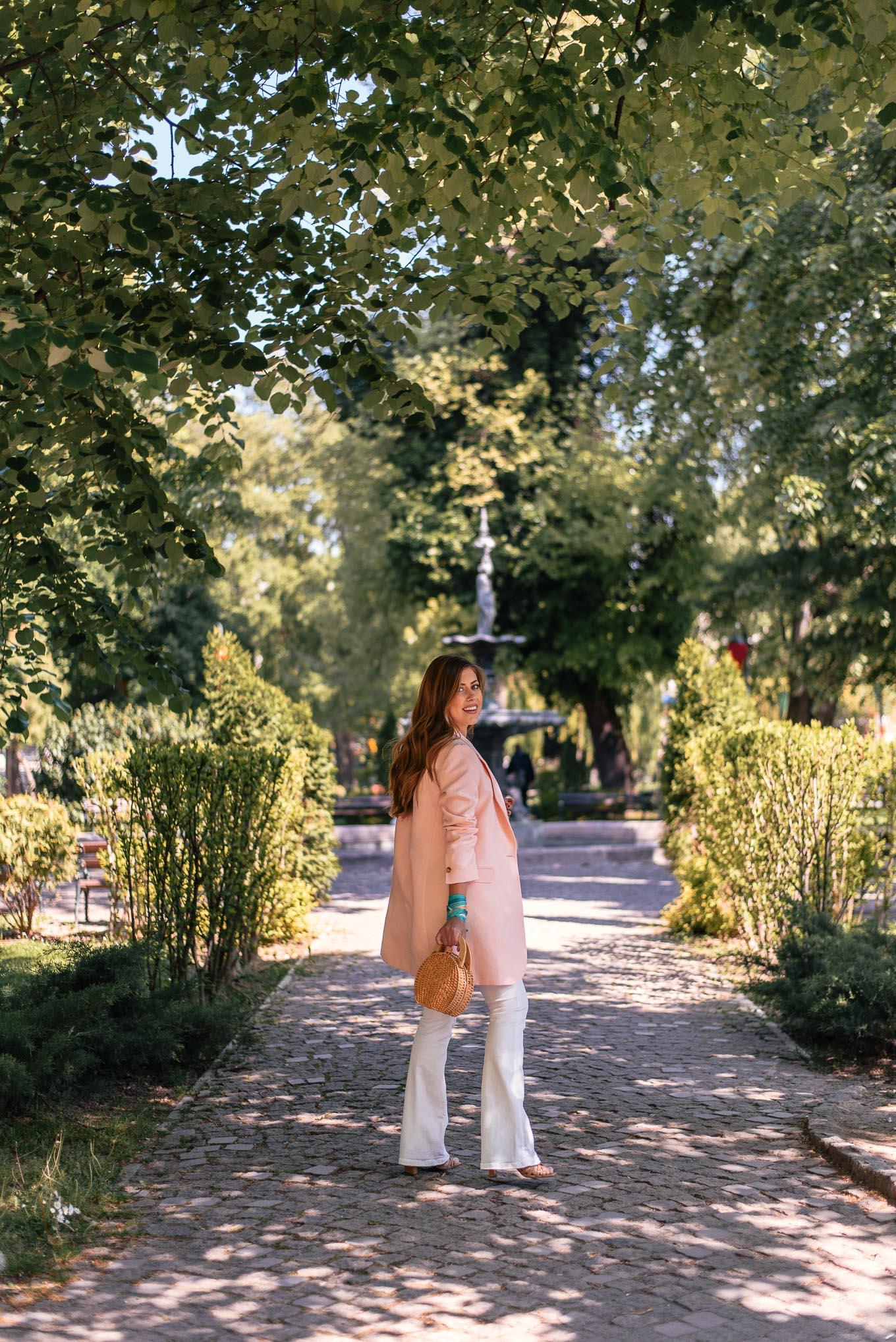 walking Plovidv central park