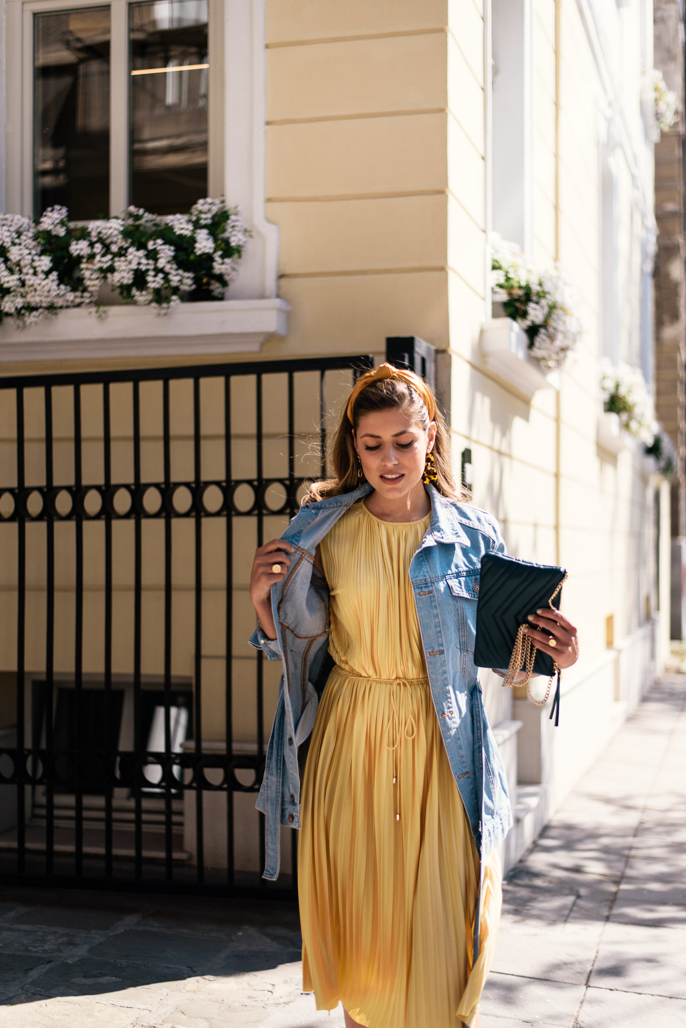 mixing yellow with blue denim