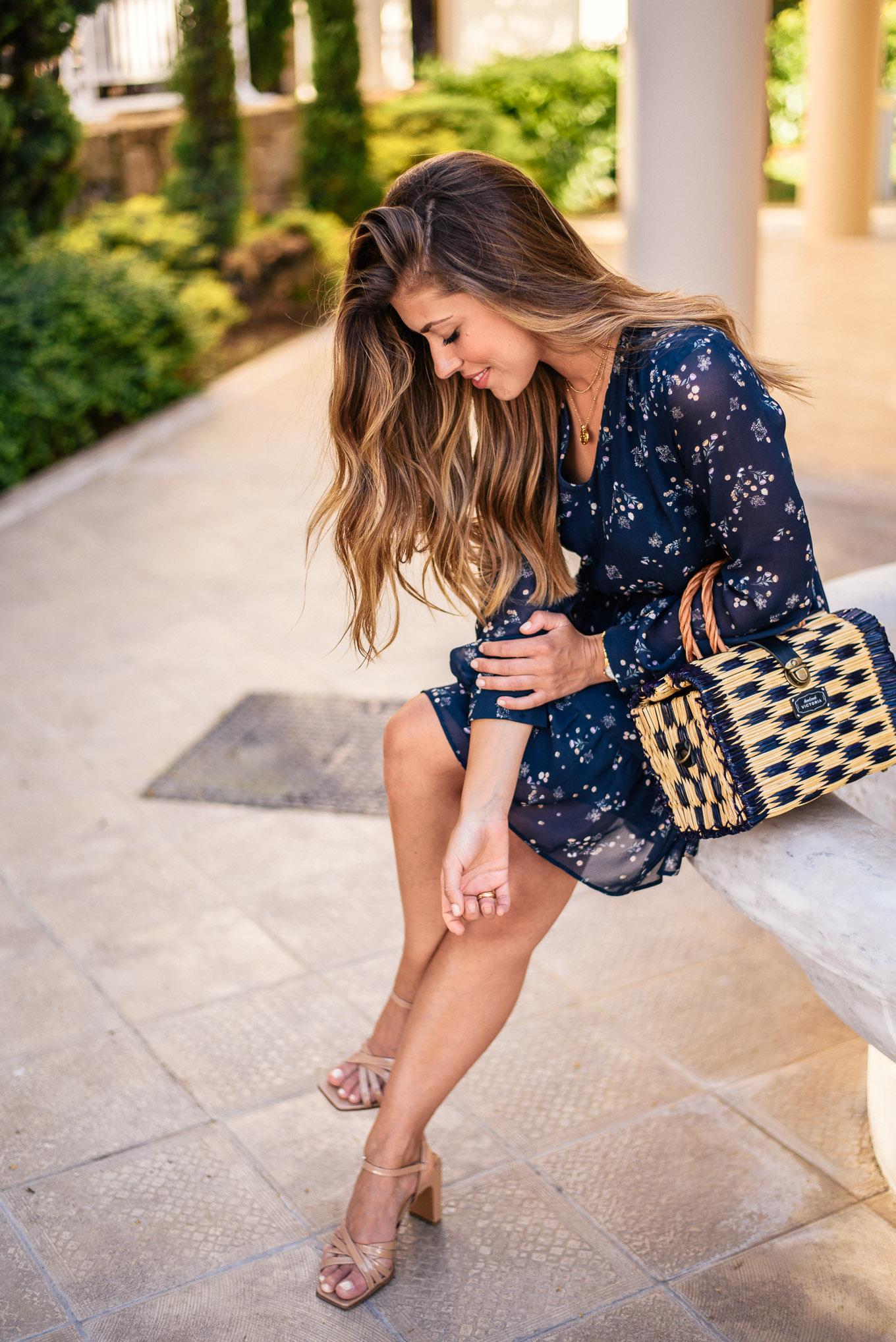 summer night blue dress