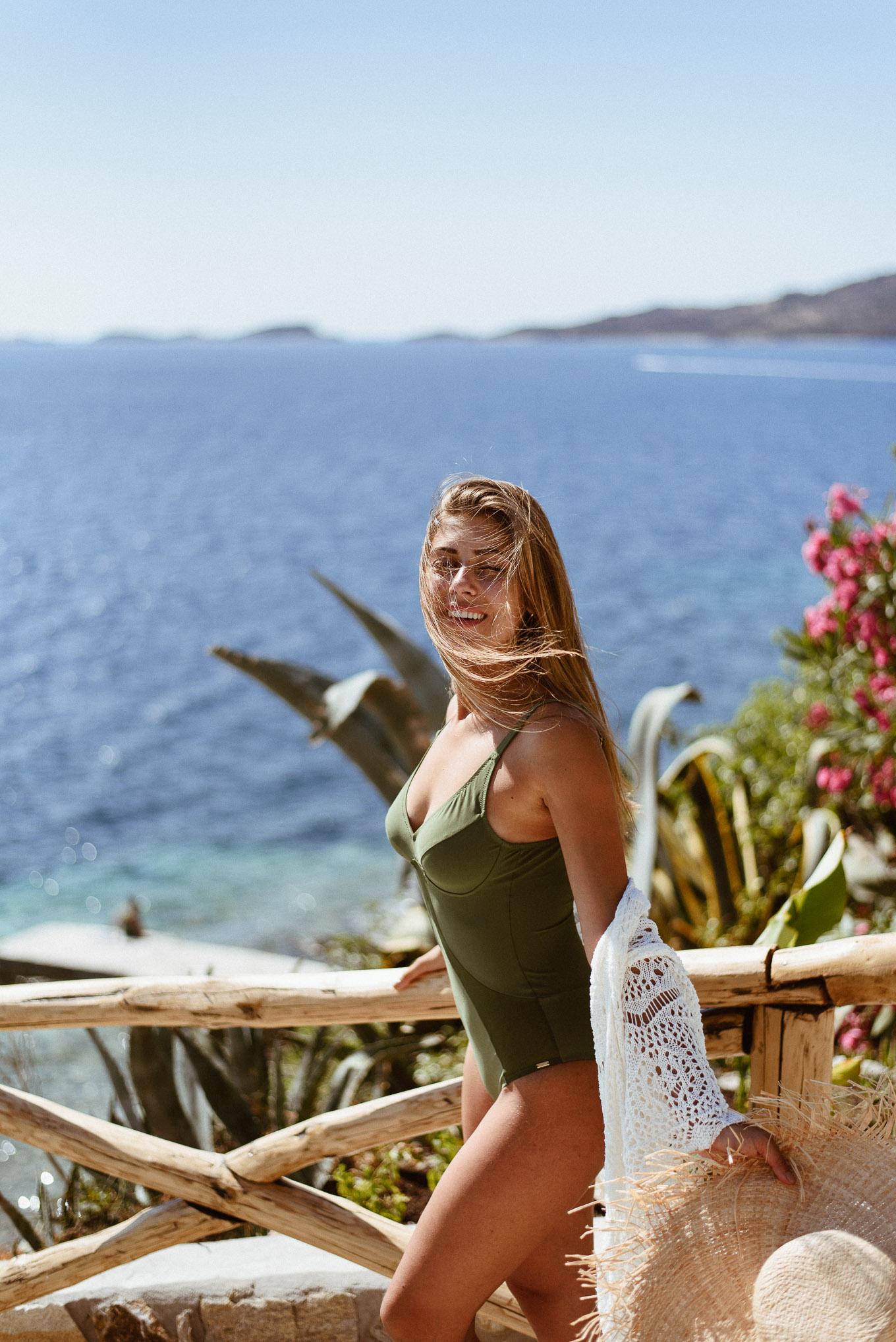 Beach girl visiting Ammouliani