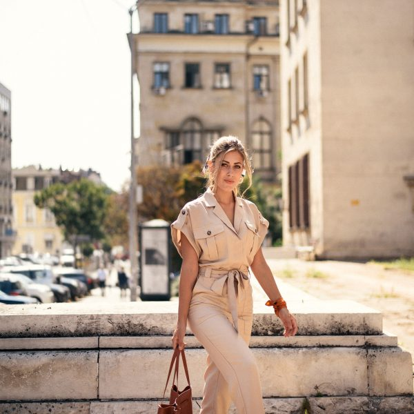 wearing cargo H&M jumpsuit