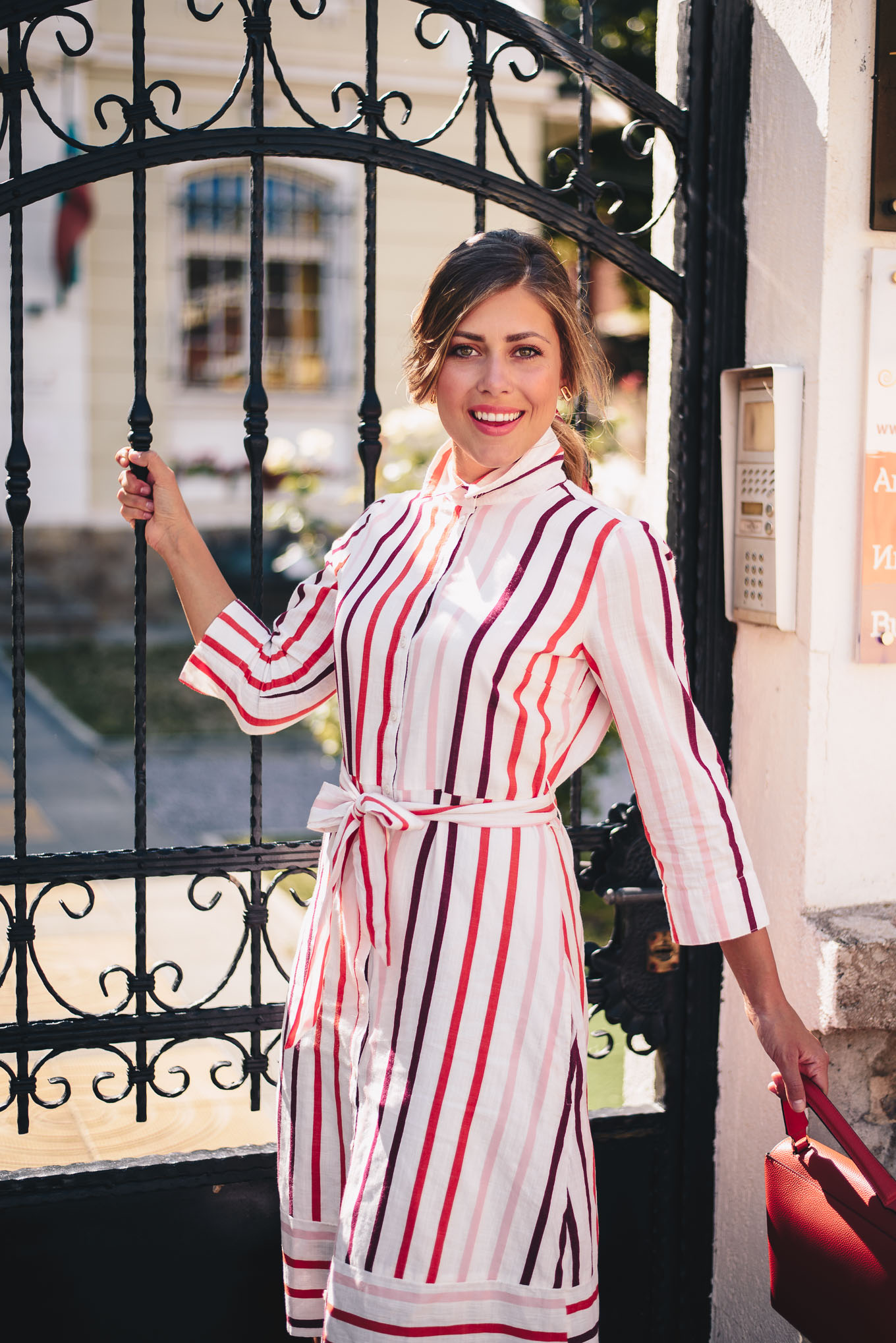Summer style striped dress