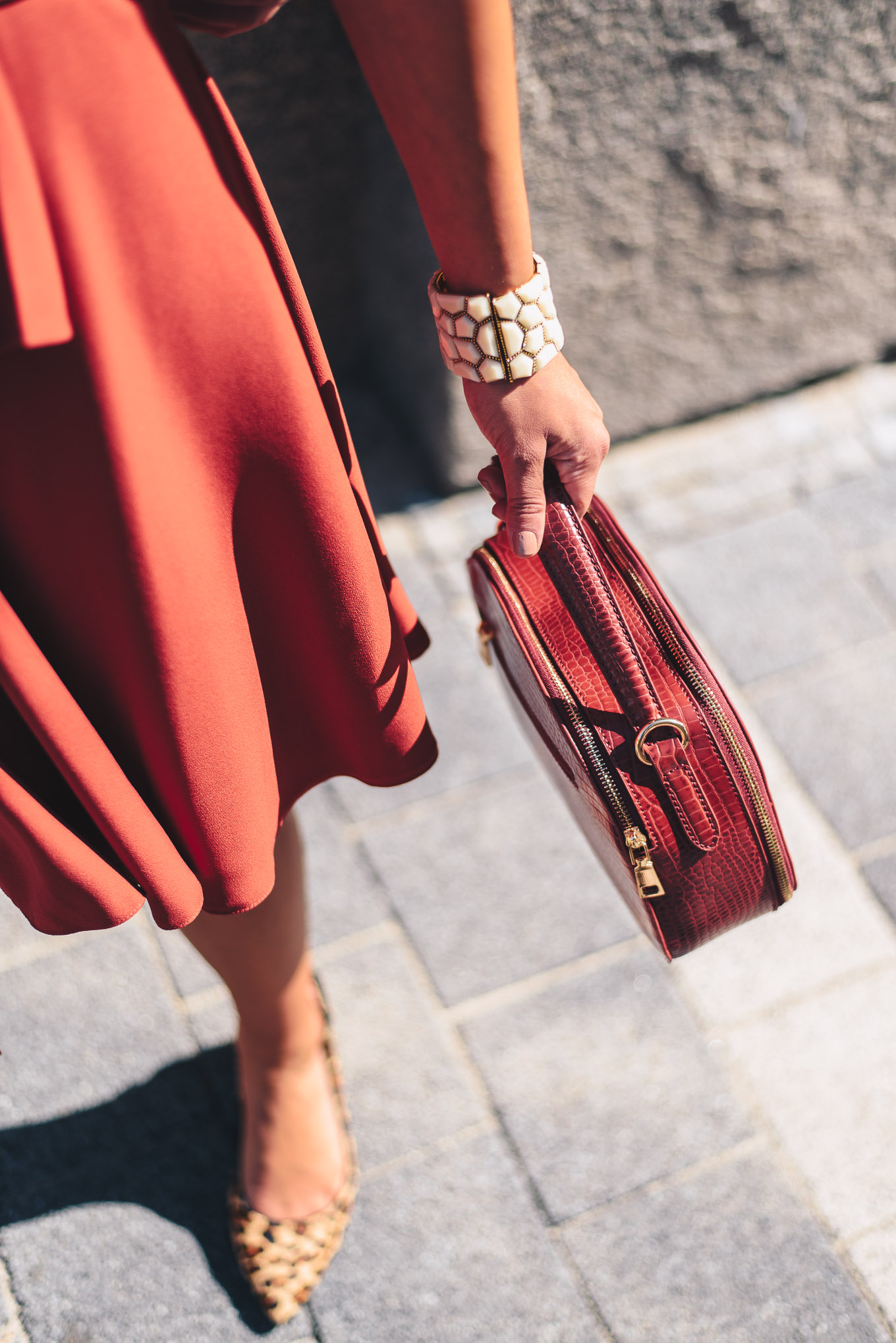 red details outfit