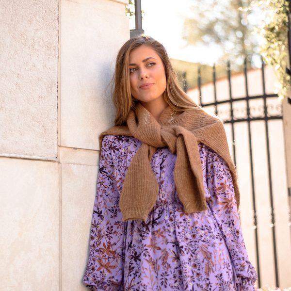 Liu Jo Lavender Dress - Лавандуловият цвят се съчетава чудесно с топлите нюанси на есента