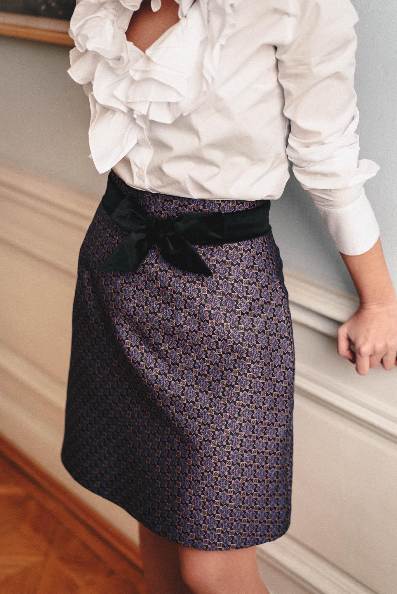 jacquard skirt by Denina Martin