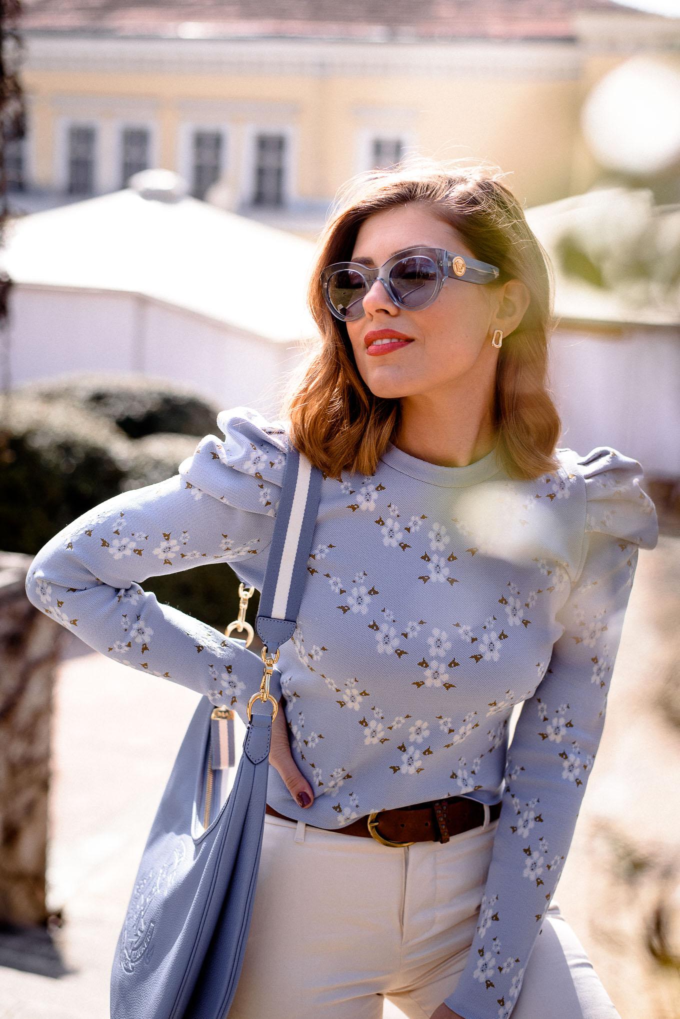 Denina Martin wearing Zara spring SS20