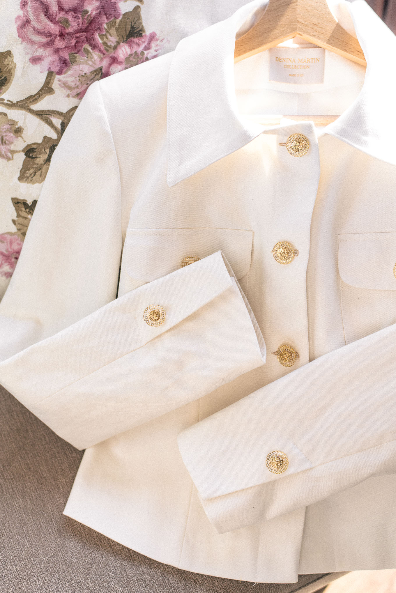 White denim jaket