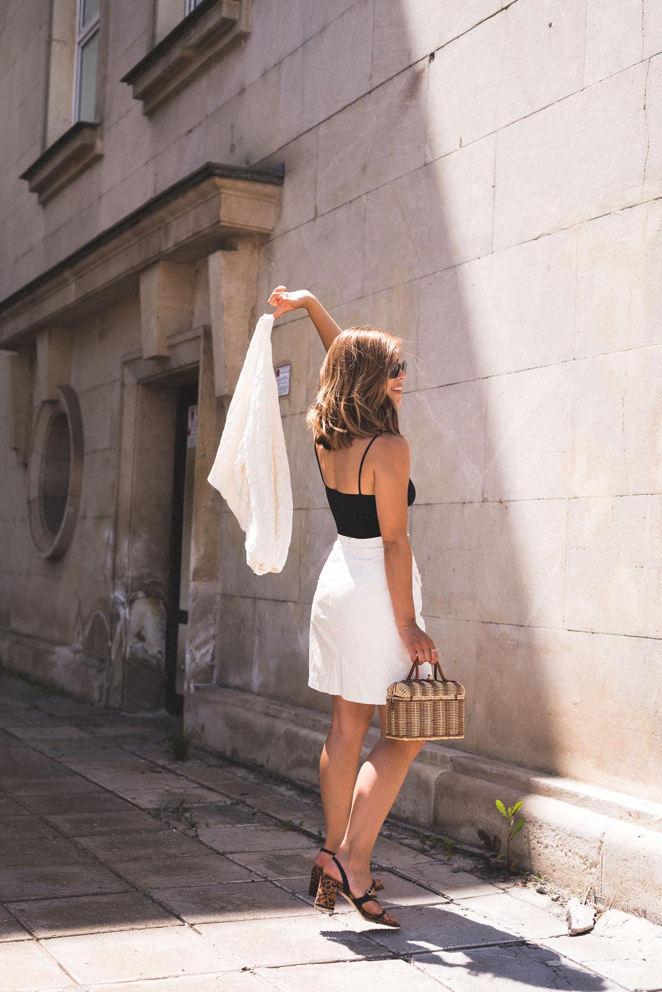 DMC off white denim skirt