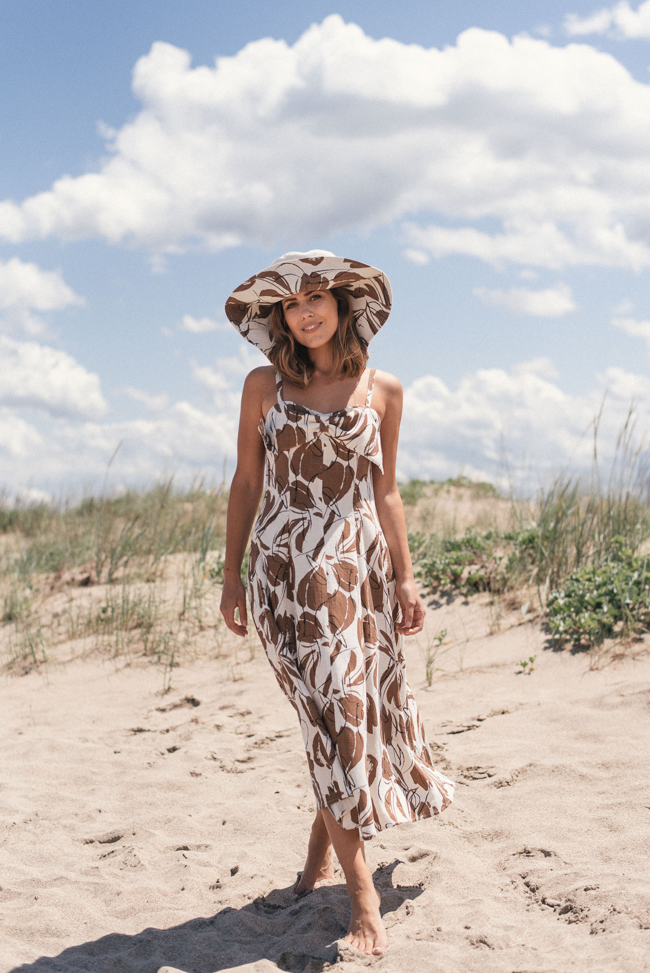 Beach Riviere dress made of cotton and linen
