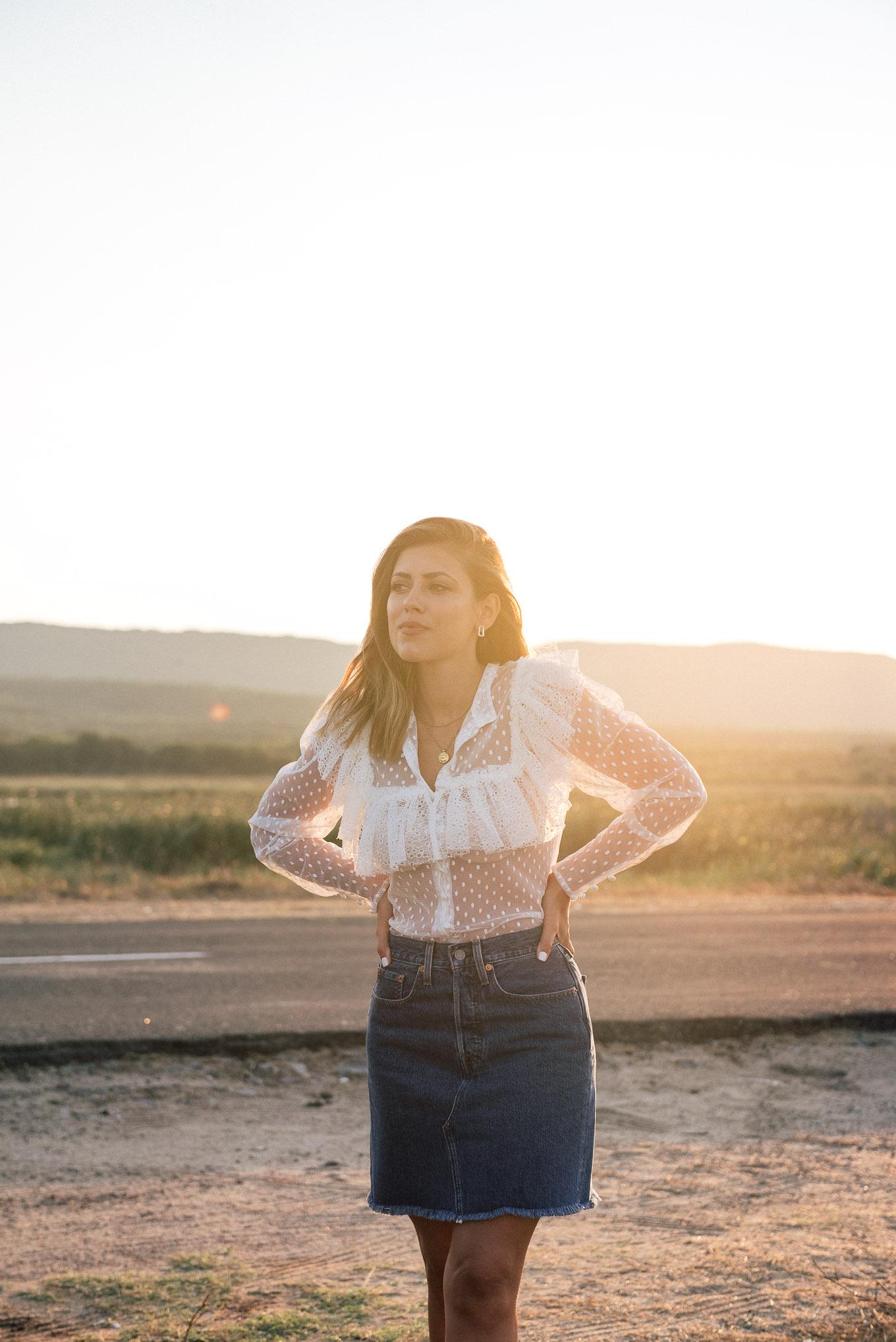 Денина Мартин залез в H&M блуза