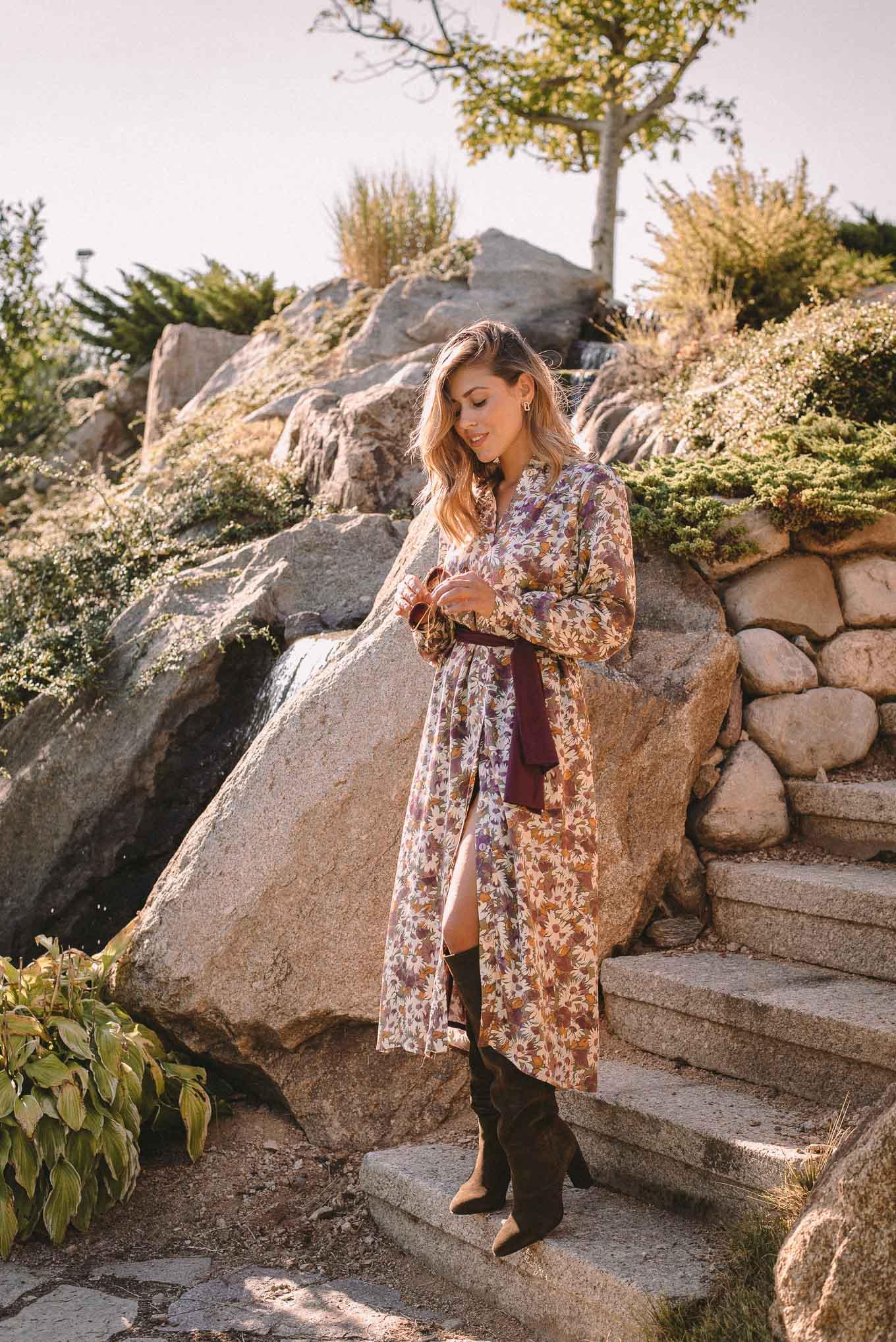 Denina Martin Collection floral long dress