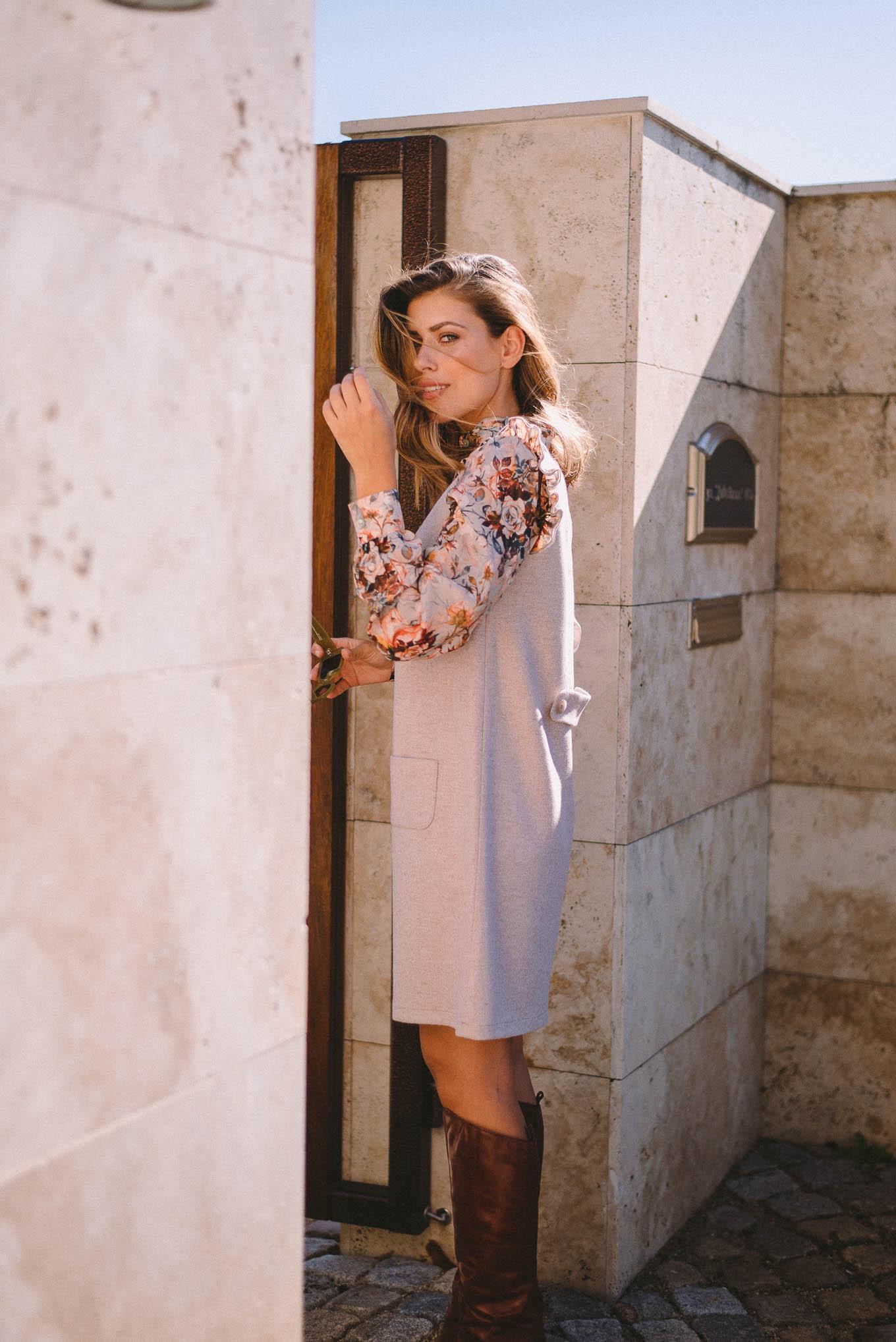 Adele wool blend dress