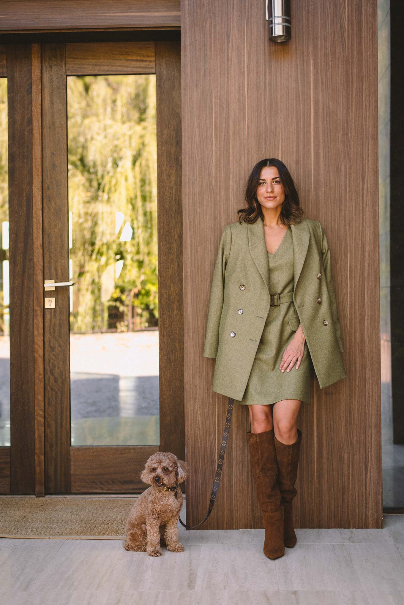 Green coat autumn collection 2020