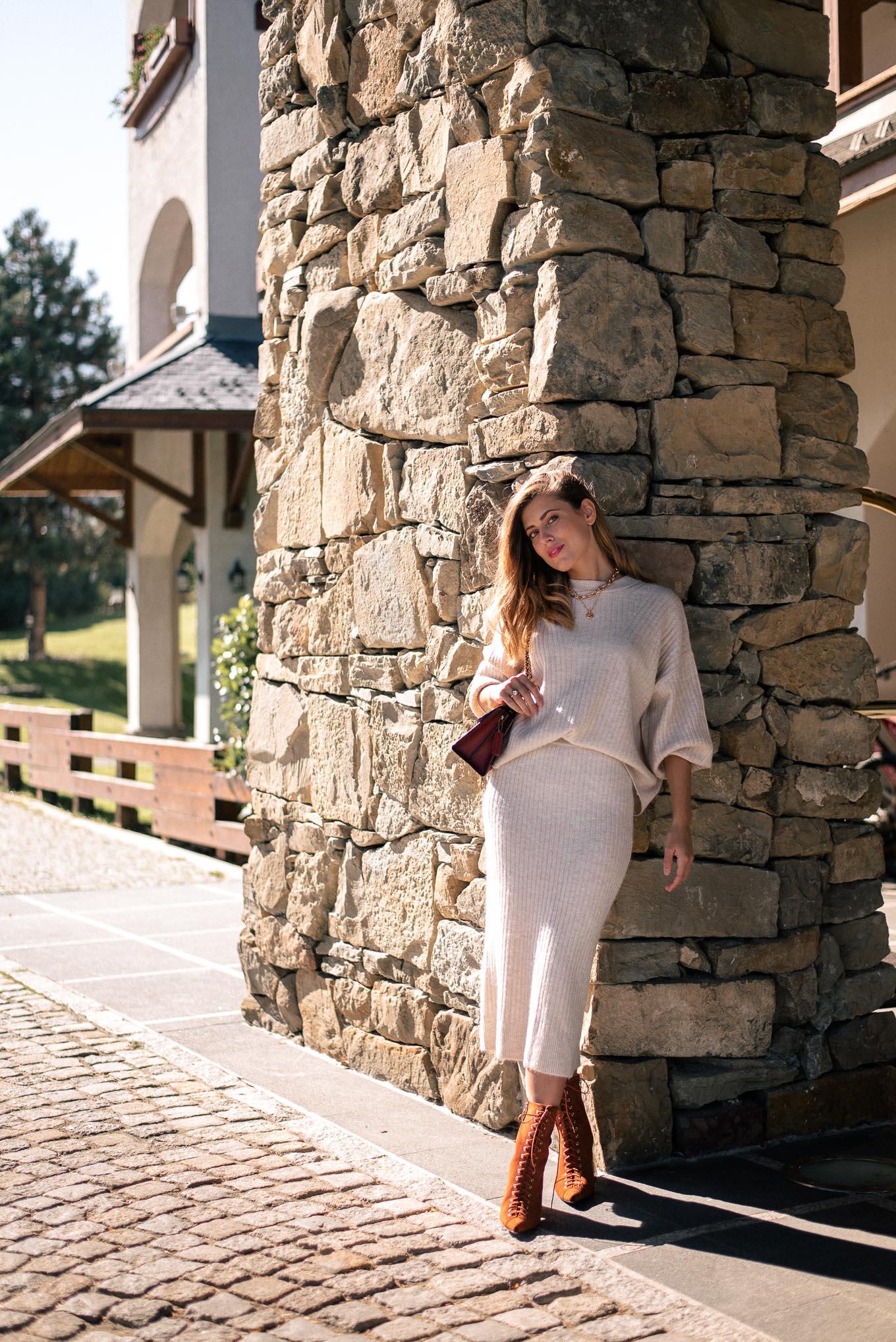 Denina Martin wearing H&M cosy mountain set