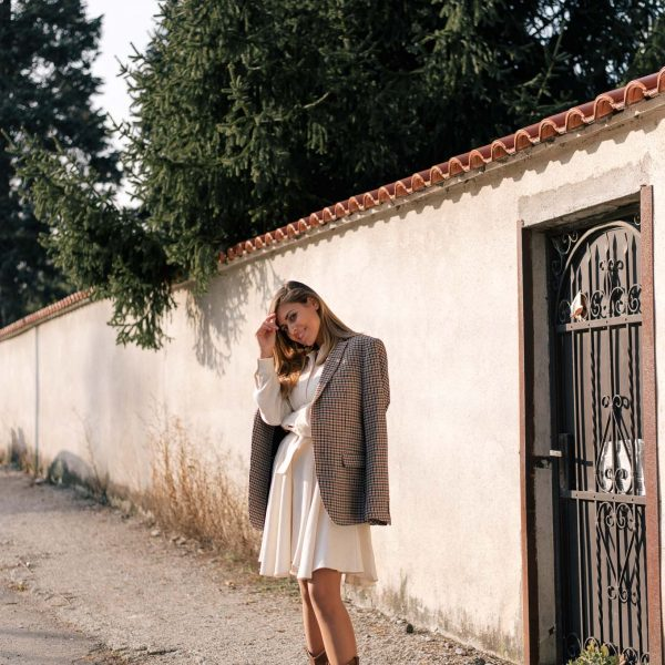Warming October sunset outfit by Denina Martin