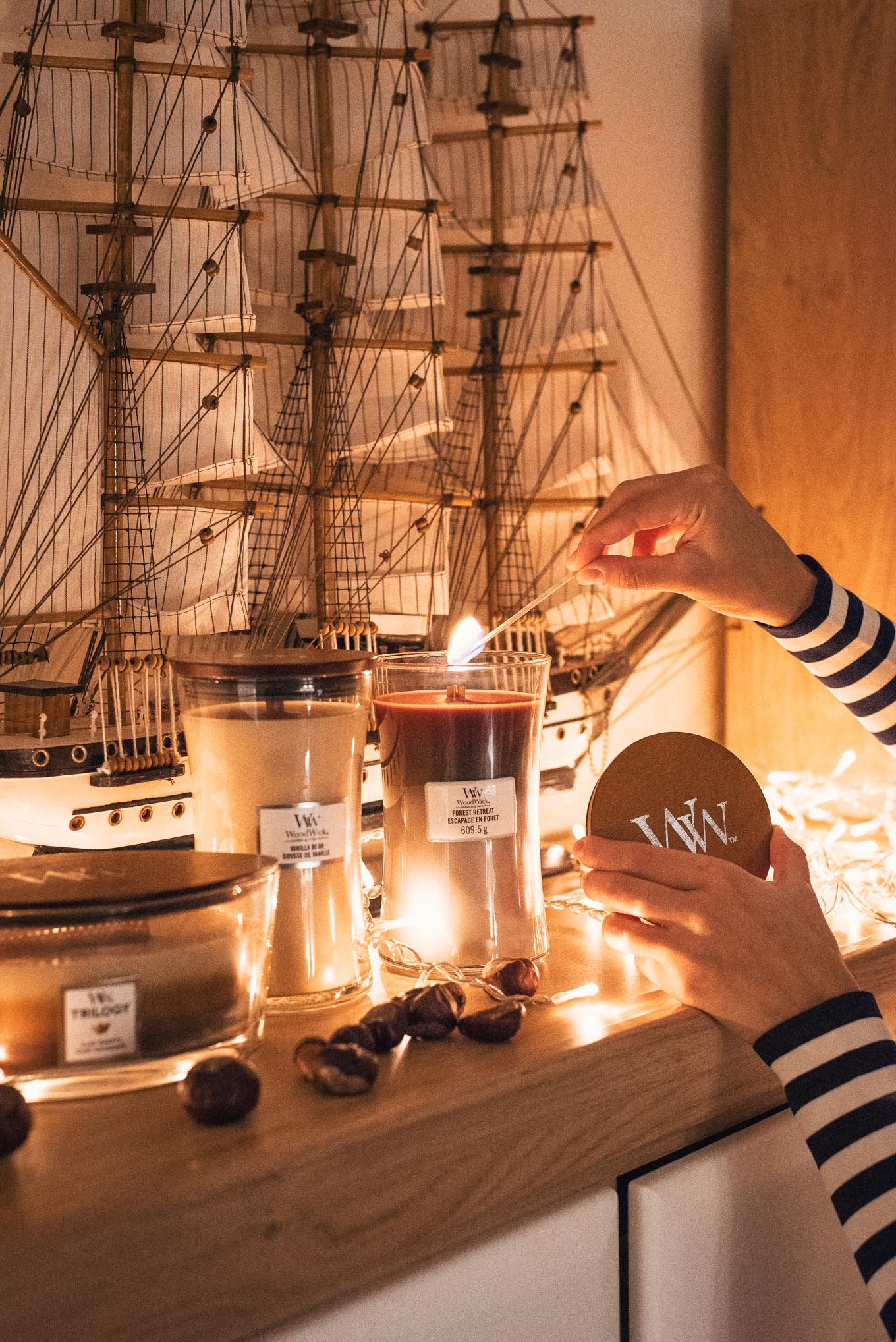 Favorite candles by woodwick