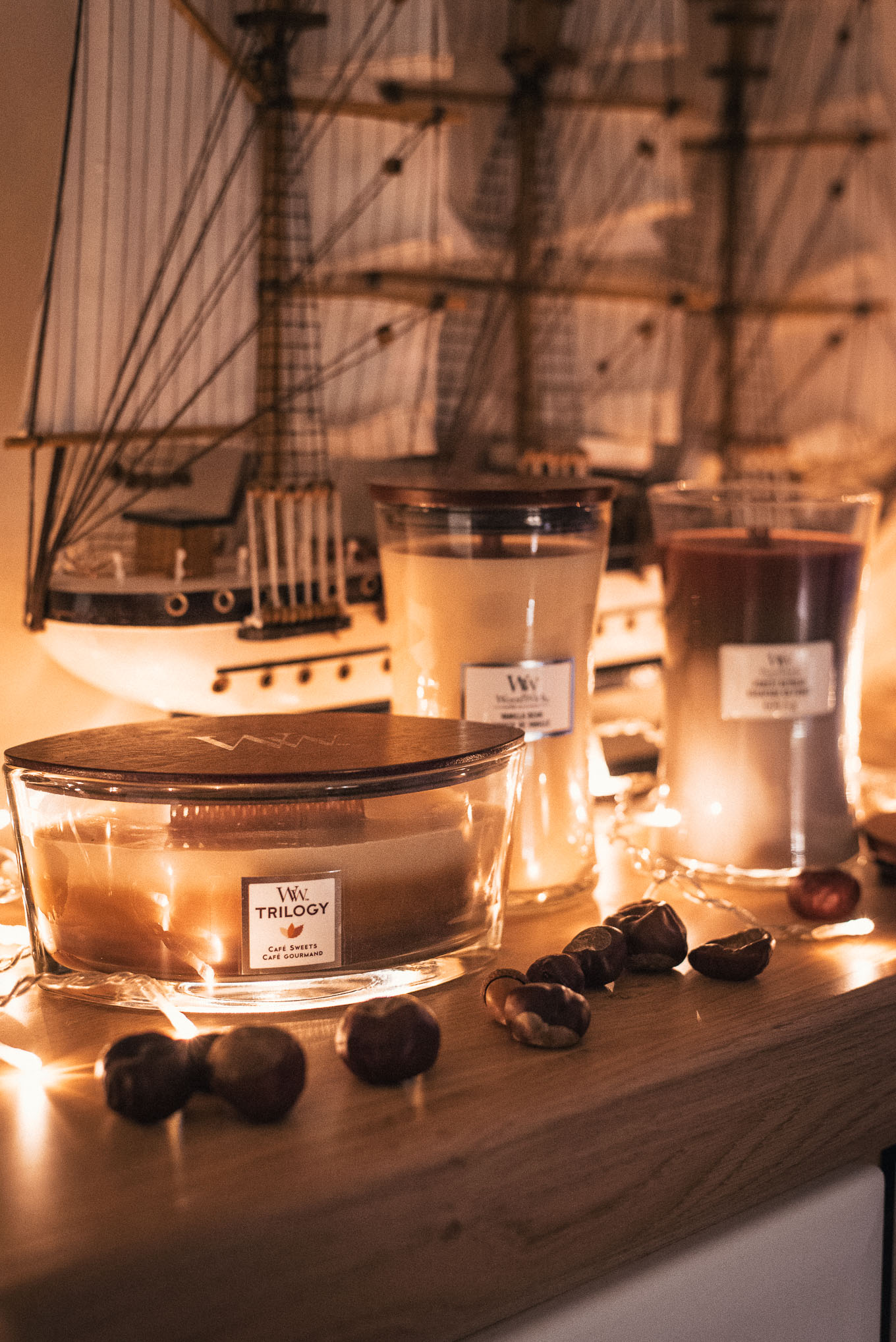 Woodwick candles for home retreat