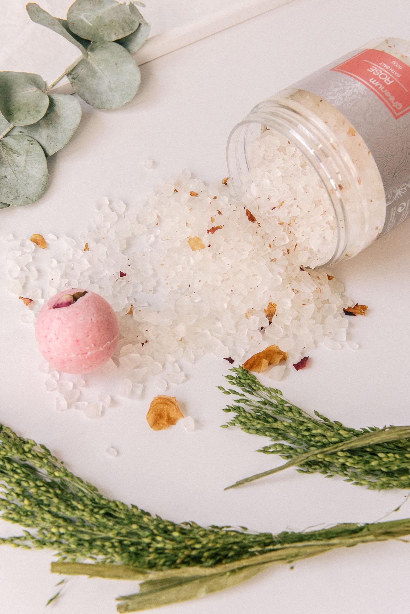 Rose bath salt for valentines day