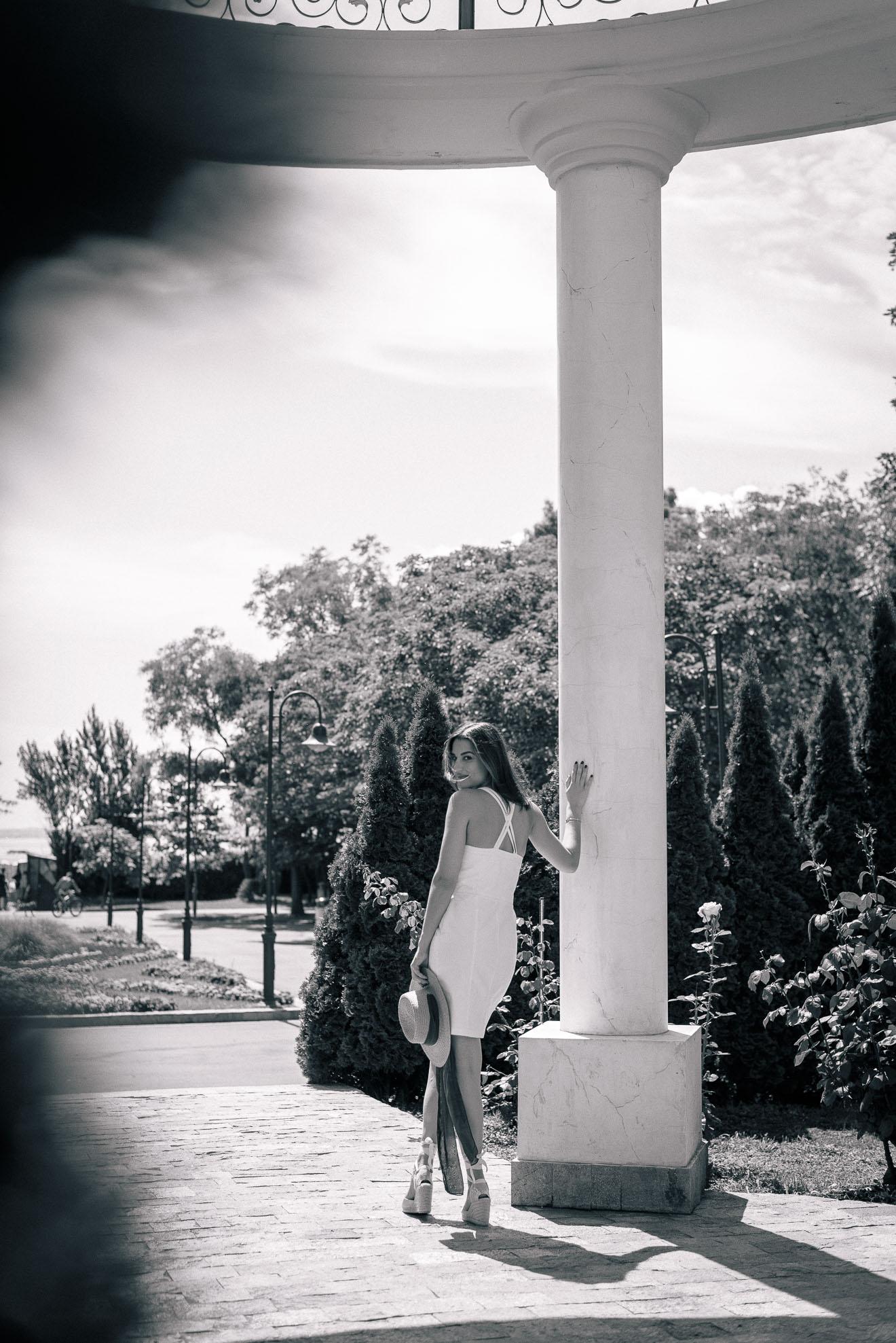 white denim dress for hot summer days