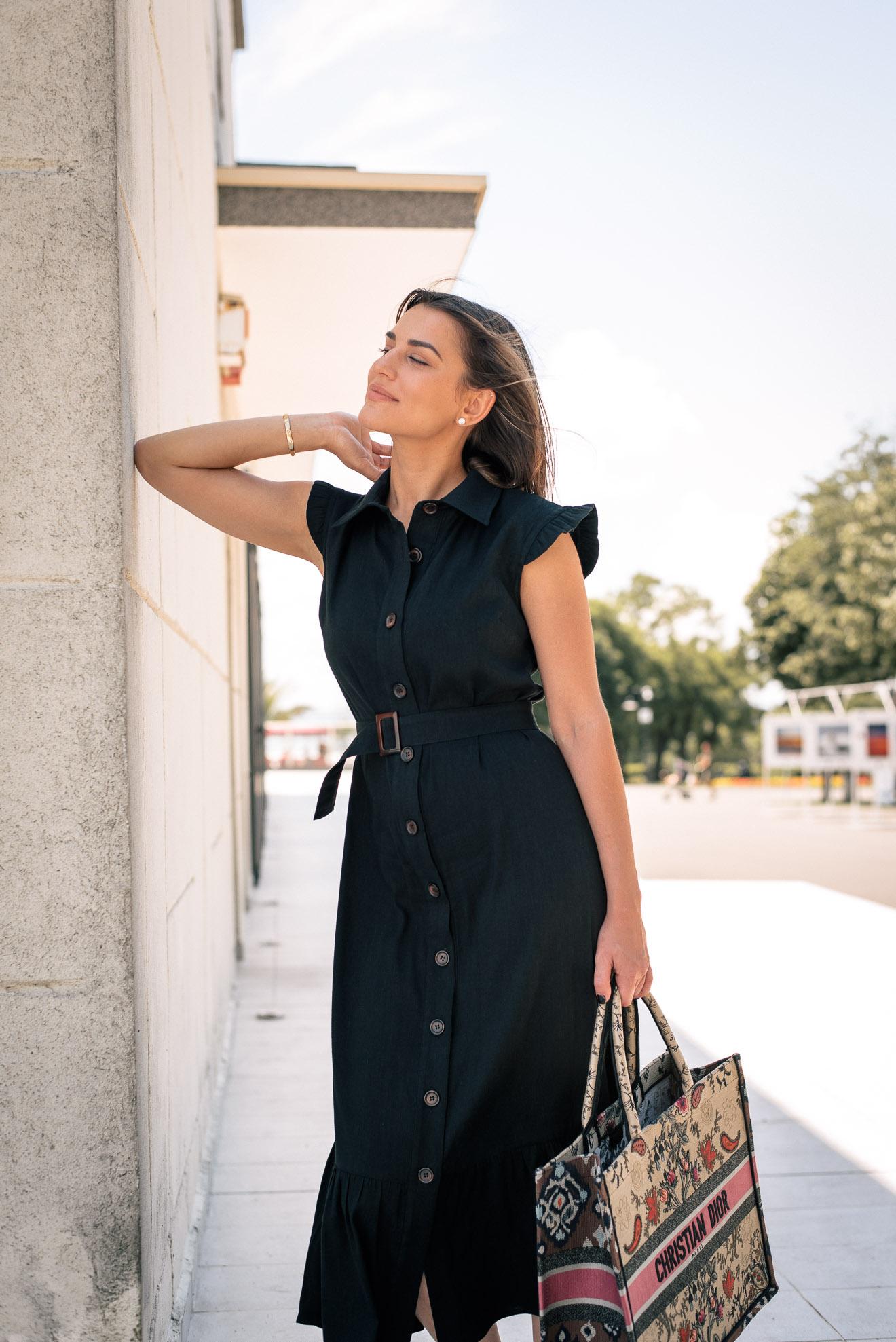 Black Savanna dress for hot summer